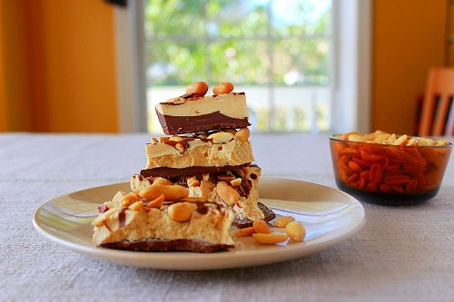 My Addiction (Recipe: Peanut Butter Chocolate Bark). I would add cashews to this instead of peanuts because I dislike peanuts. Any other kind of nut would be good too. Great recipe!!