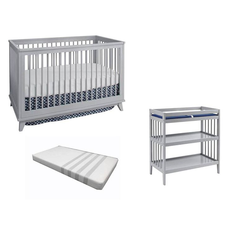 This Westwood Design 3 piece Echo collection includes a 3-in-1 Crib, a three shelf Changer with pad and a Classic foam Mattress. Echo 3-in-1 crib is a contemporary design sure to please. Sturdy construction, made of solid beech and stained for a beautiful finish. The crib has doweled slats on all sides and easily converts to a toddler bed for extended use. Also, a matching sturdy 3 shelf Changer with pad is included. Mattresses in a box Mattress also in set.<br><br>Westwood Design...