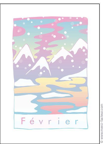 Trouvez de très belles cartes à envoyer en Février ! http://www.merci-facteur.com/carte-fevrier.html #Carte #Février #montagne #lac #ski #neige #vacances #froid #saison #Hiver Carte Paysage de F�vrier pour envoyer par La Poste, sur Merci-Facteur !