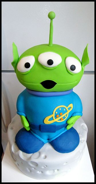 Toy Story Alien Cake... this would be great with the claw looming over him.