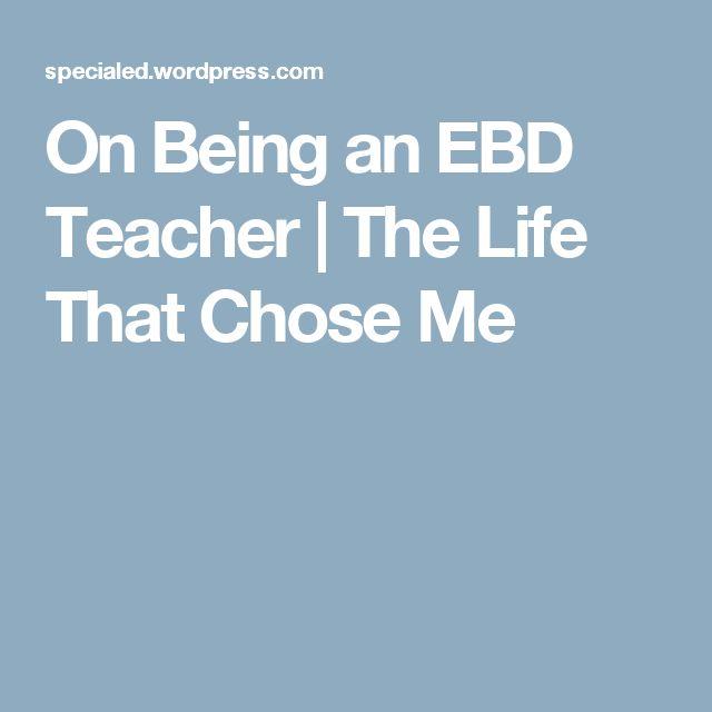 ebd teacher