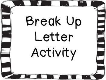 This activity allows the students to connect the Declaration of Independence to a break-up letter.  The activity lays out the break-up letter step by step.  The activity also tells how to use it in the classroom.