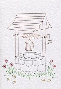 wishing well coloring page - 17 best images about trazos y a pintar on pinterest