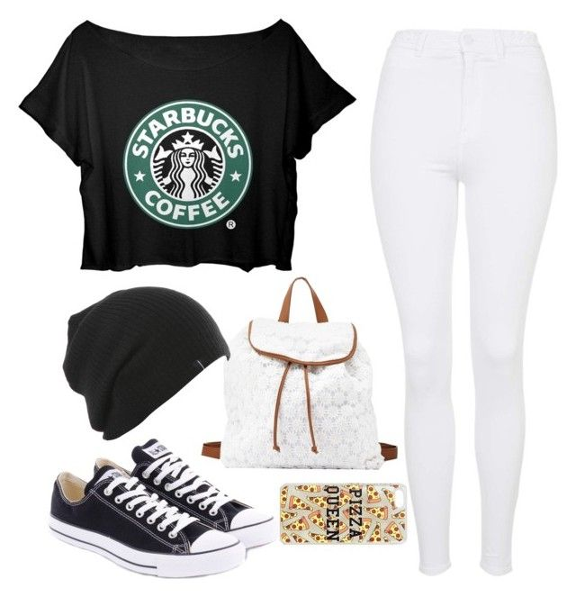 """Starbucks"" by kyrstenann ❤ liked on Polyvore"