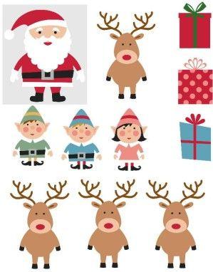 Gratuit : un tutoriel pour imprimer et fabriquer des figurines de Noël : Père Noël, lutins et rennes.