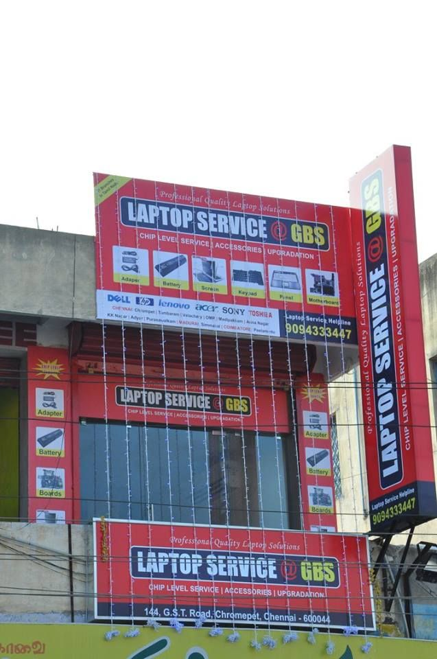 GBS Laptop Service Center in chrompet Contact :  +44 - 49575354 / 91 90943 33447