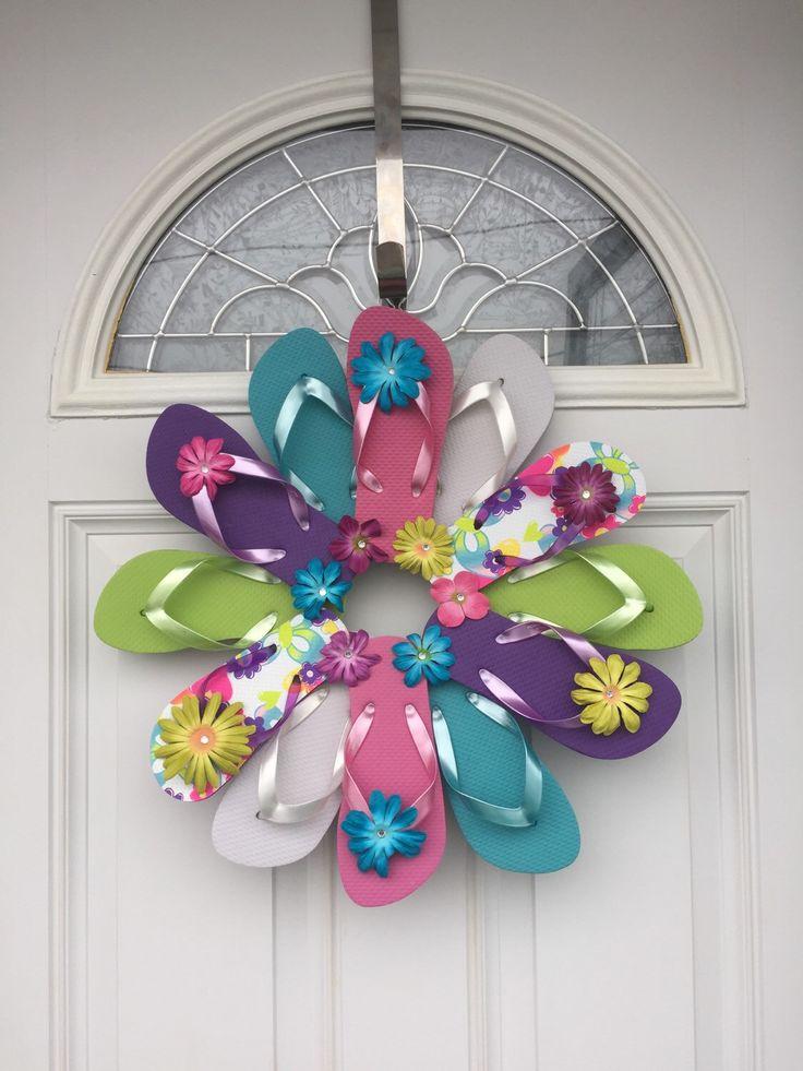 Flip Flop Flower Power Wreath