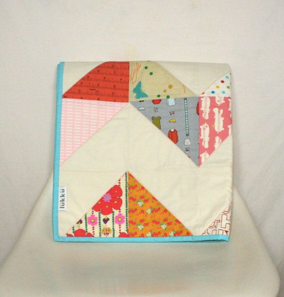 Baby quilt modern and handmade by Lukku on Etsy, $169.00