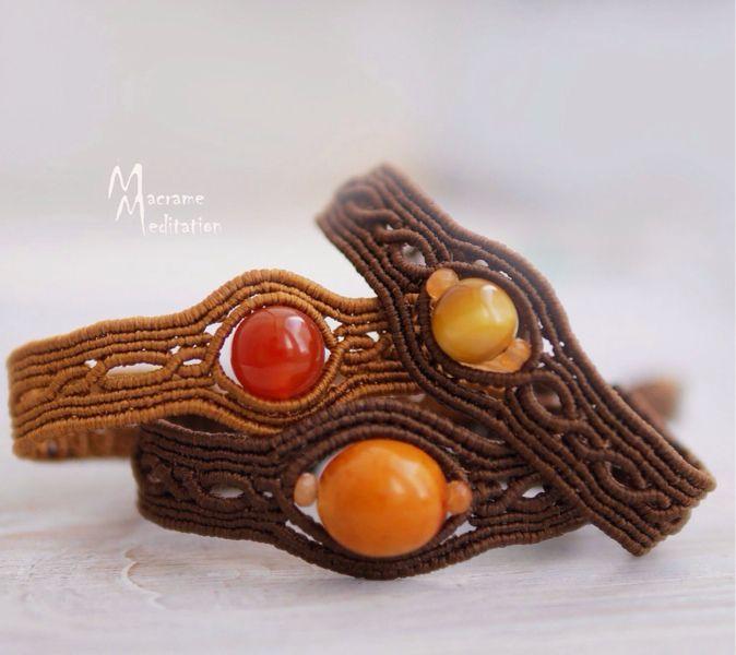 Купить Авторские плетеные браслеты с камнями. - Браслет ручной работы, браслет, браслеты, браслеты из камней