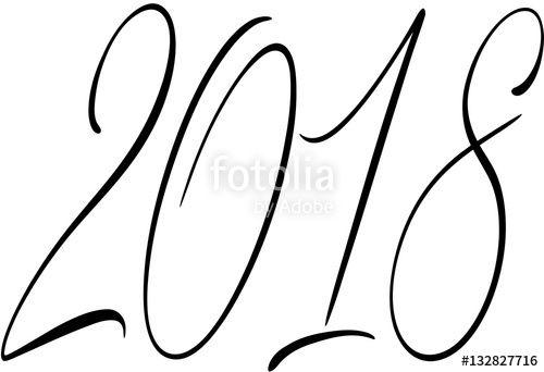 ;Happy 2018 sign creato da Morgan