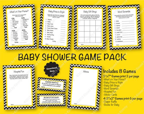 Construction Baby Shower Game Pack PRINTABLE Boy by ShowerMyBaby