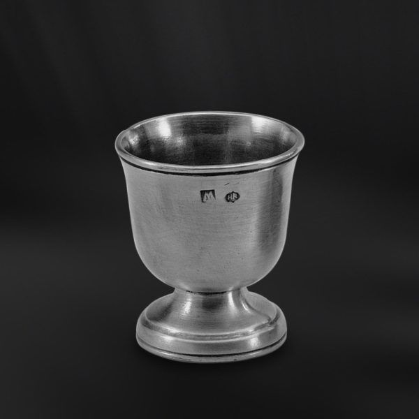 Pewter Egg Cup - Height: 5 cm (2″) - Food Safe Product - #pewter #egg #cup #stand #peltro #portauovo #zinn #eierbecher #peltre #tinn #олово #оловянный #tableware #dinnerware #table #accessories #decor #design #bottega #peltro #GT #italian #handmade #made #italy #artisans #craftsmanship #craftsman #primitive #vintage #antique