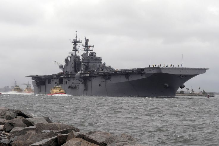 JACKSONVILLE, Fla. (Oct. 5, 2016) Amphibious assault ship USS Iwo Jima (LHD 7) departs Naval Station Mayport in preparation of Hurricane Matthew's arrival onto Florida's eastern coast. (U.S. Navy photo by Petty Officer 2nd Class Mark Andrew Hays/Released) 161005-N-JX484-078  Join the conversation: www.navy.mil/viewGallery.asp www.facebook.com/USNavy www.twitter.com/USNavy navylive.dodlive.mil pinterest.com plus.google.com