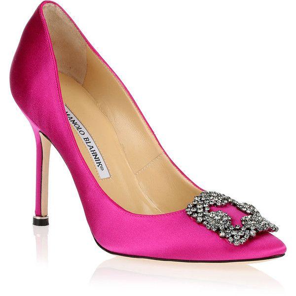 Pink Manolo Blahnik Hangisi Heel