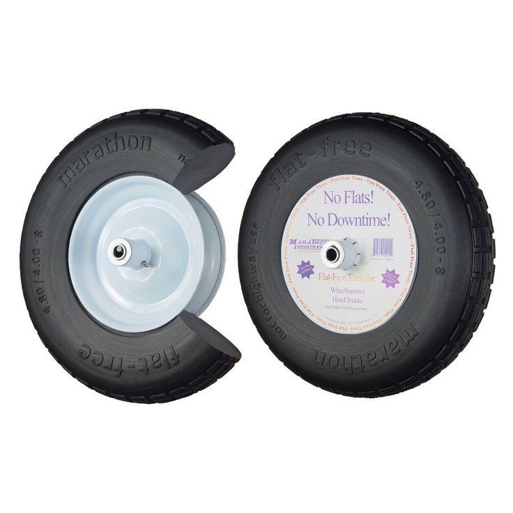 Marathon Industries 16 in. Knobby Flat Free Wheelbarrow Tire