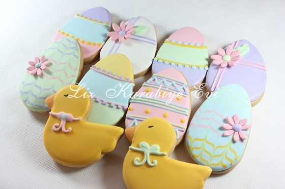 Easter cookies by liz kurabiye evi, via Flickr