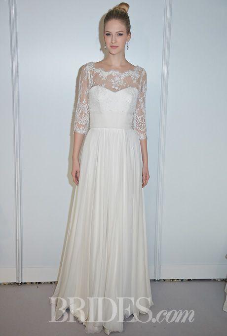 Stephanie Allin Couture – – Margot and Selena Shrug Strapless Silk Taffeta A-Line Wedding Dress with a Sheer Lace Jacket