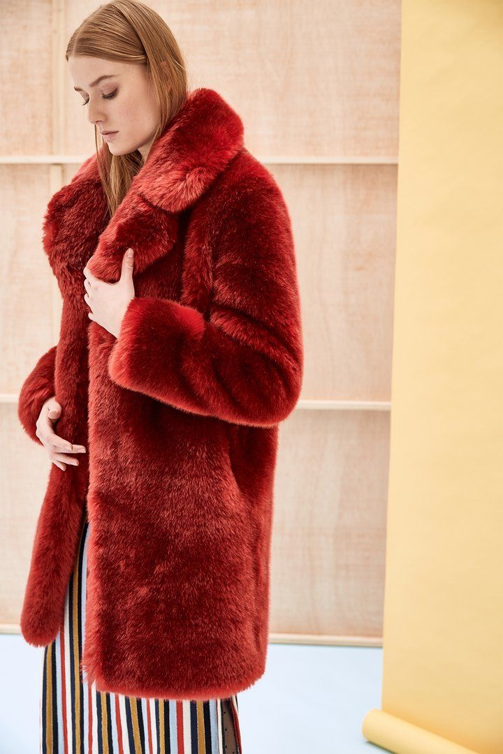 Louve Red Faux Fur Coat, How To Dry Clean Faux Fur Coat