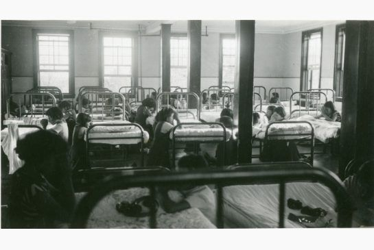 Many more Indian residential school stories to be heard (photo: Prayer time in the girls' dormitory at Cecilia Jeffrey Indian Residential School near Kenora, c. 1950-53)