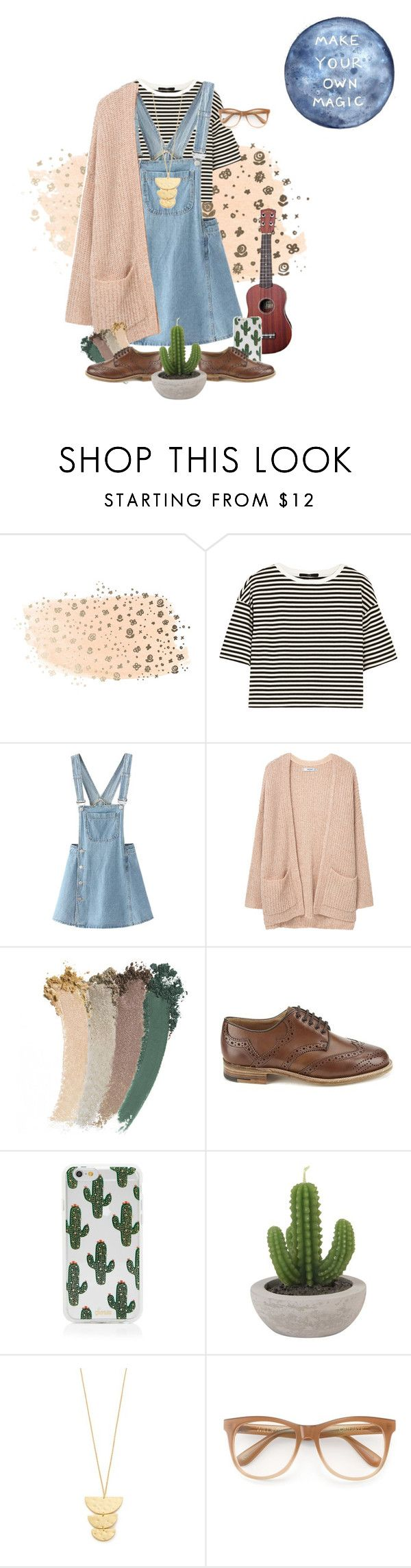 """""""Dodie Clark Inspired"""" by hairasmessyasmylife on Polyvore featuring TIBI, WithChic, MANGO, Gucci, Tricker's, Sonix, Gorjana and Wildfox"""