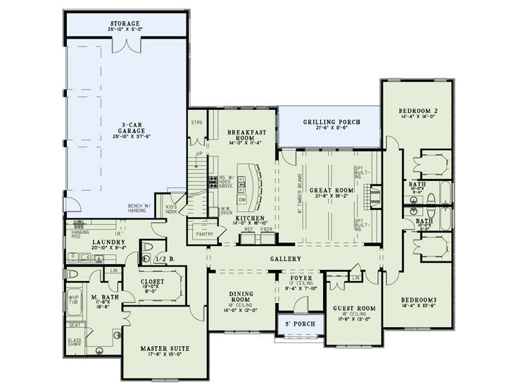 I Love The Open Kitchen, Split Floor Plan, And Laundry Room Off Of The