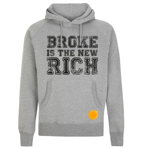 Broke is his the new rich hoodie #hoodies #Storymood think different and be cool men's pullover hooded sweatshirt  80% Combed Cotton 20% Polyester 320g / 9.6oz.