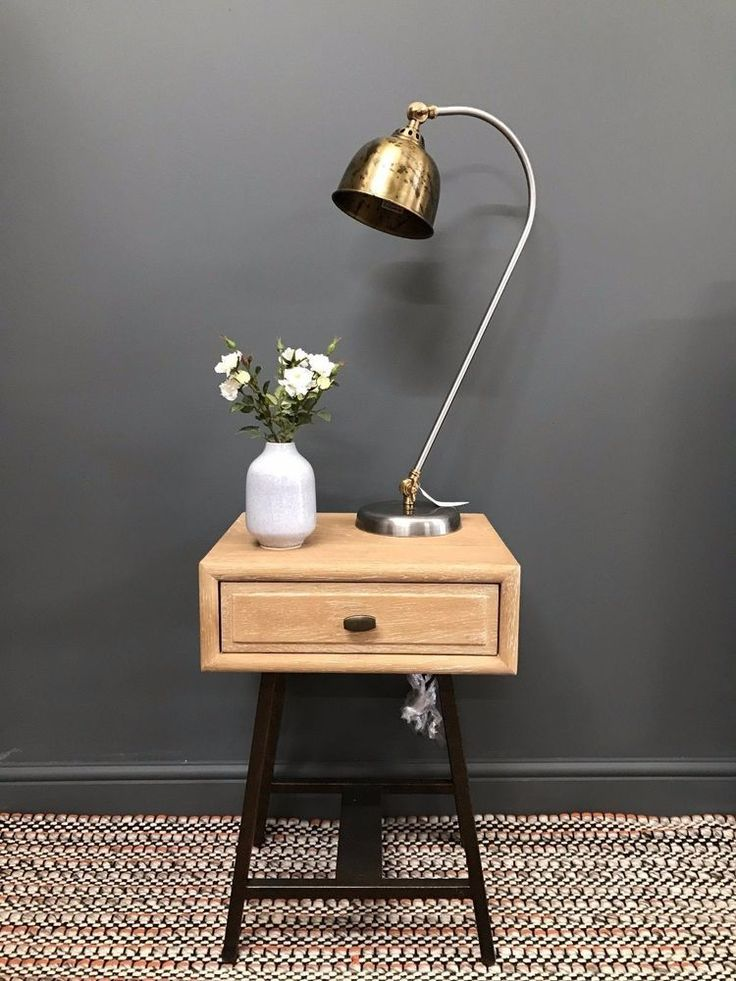 Gaston lamp. Adjustable lamp stem and head. Last seasons model, has a distressed effect on the shade rather than the polished brass of this seasons version. Direct Furniture. Find us at ………………. Recommended bulb (not included): E14 screw cap, 13-15 watts compact fluorescent (CFL). | eBay!