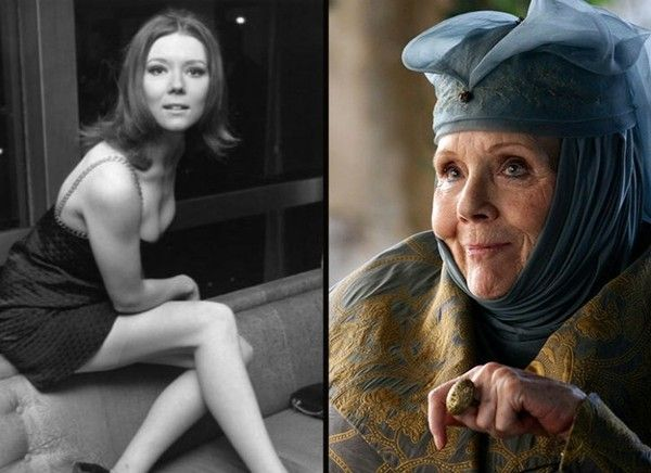 Diana Rigg (Olenna Tyrell) - The 'Game of Thrones' Cast Then and Now - Zimbio