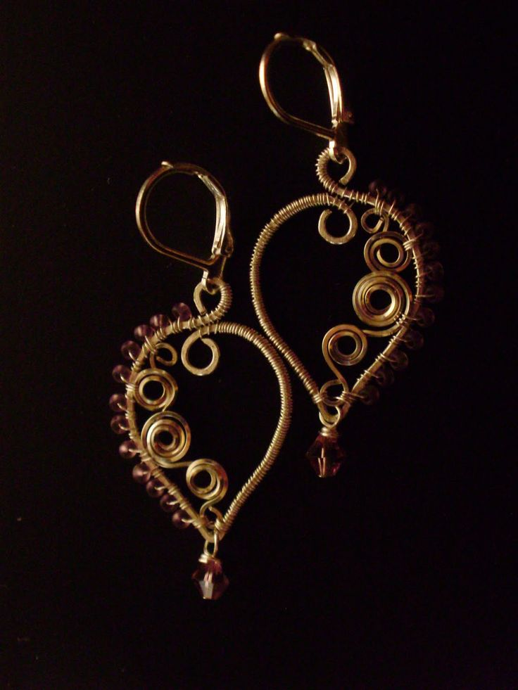 Free Wire Wrapping Patterns | ... Bead Weaving to Wire Wrapping: Beaded Paisley Wire Wrapped Earrings