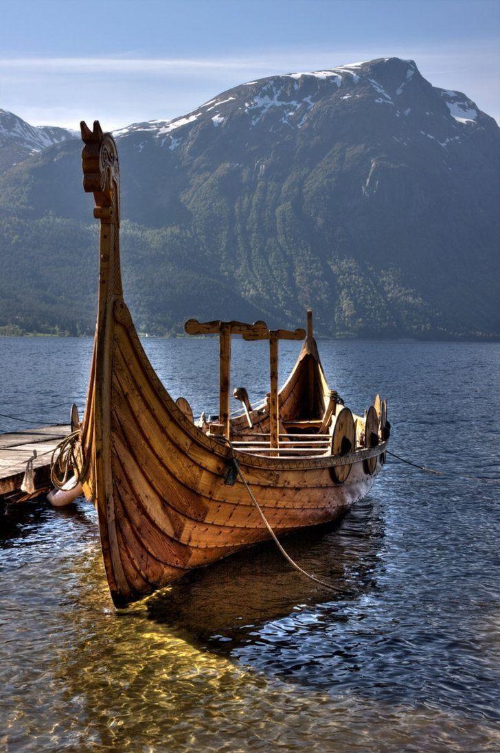 Viking ship. iPhone Wallpaper.