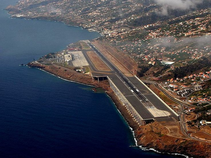 Pilots require special training to land at Madeira Airport (FNC) in Portugal which was just 5,250 feet (1,600 m) long when the airport opened for business in 1964. The runway was so short it had to be extended twice due to accidents, including one in 1977 in which a Boeing 727 plunged off the end of the runway, killing 131 of the 164 people on board. The latest extension in 2000, saw an extra one kilometre added to the runway, built on concrete pillars in the sea.