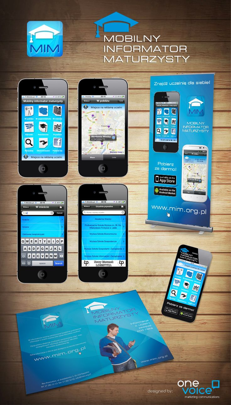 Mobile app and promotional materials