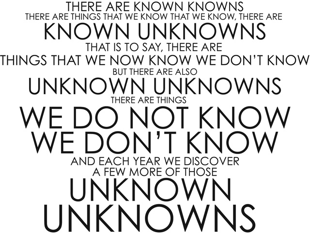 I know what I know but must learn what I don't know.