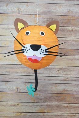 """8"""" Paper Lantern Animal Face DIY Kit - Tiger (Kid Craft Project)"""