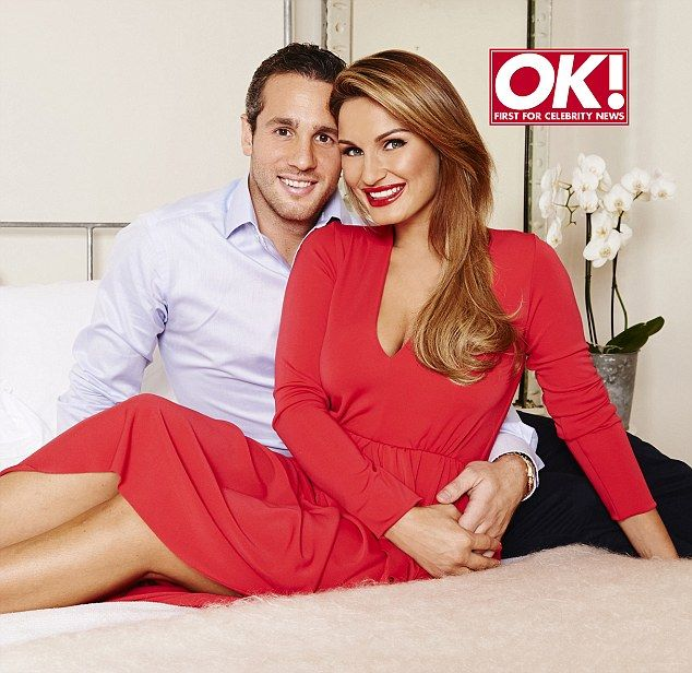 Getting serious: Sam Faiers and her boyfriend Paul Knghtley pose in their first couples photoshoot for OK! magazine