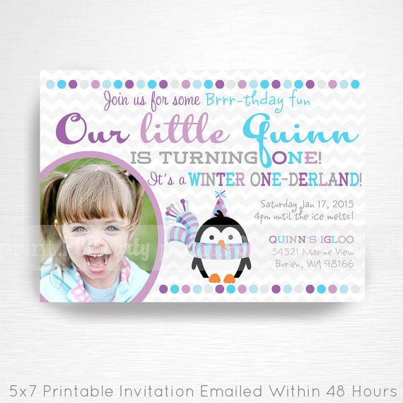 Penguin Party Printable Invitation by Print POP Party    This is an emailed file, nothing will be shipped to you. Please include your childs name,
