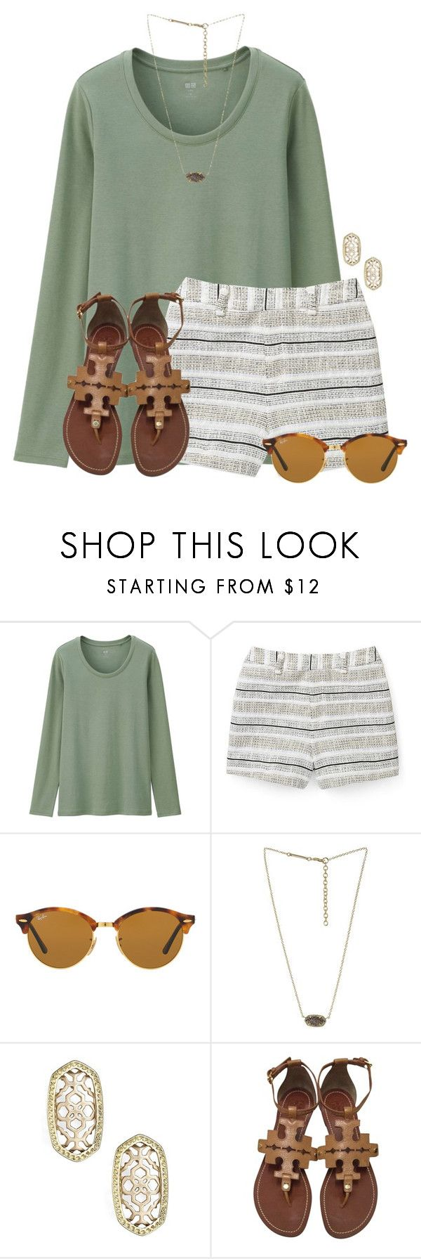 """Easter weekend:)"" by flroasburn ❤ liked on Polyvore featuring Uniqlo, Rebecca Minkoff, Ray-Ban, Kendra Scott and Tory Burch"