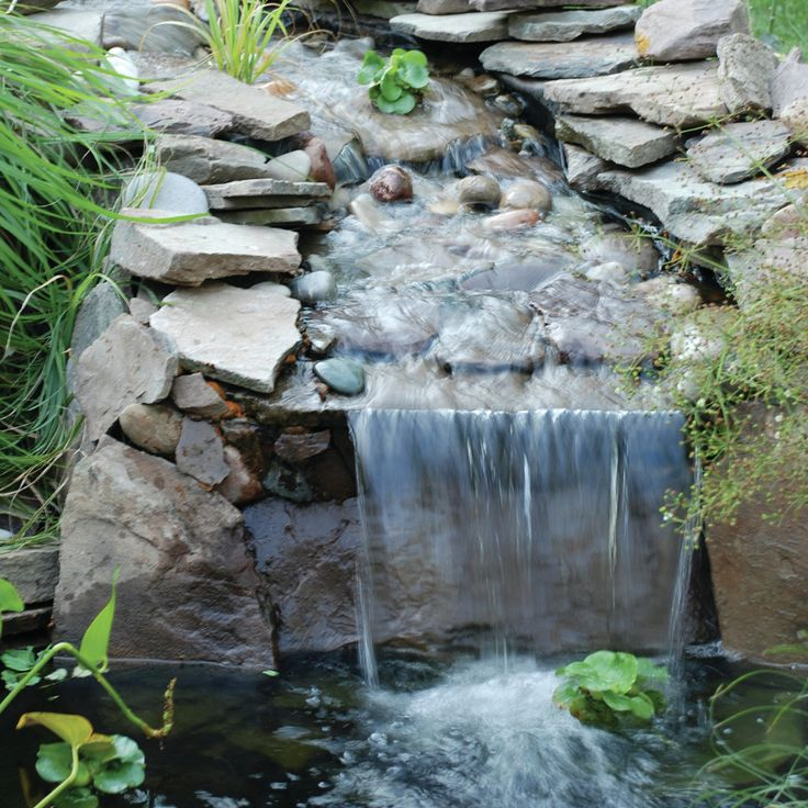 25 best ideas about pond waterfall on pinterest diy for Pond stream design