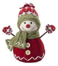 Features:  -Poly blend fabrics and knits.  -Handmade.  -Faux fur and felt.  -Over rigid core forms.  Quantity: -Individual Item.  Product Type: -Stuffed Holiday Accents.  Theme: -Snowmen.  Holiday The
