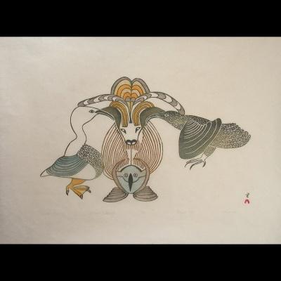 "Mayureak Ashoona  ""Animals Converge"""