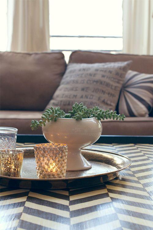 living room stuffMercury Glasses, Coffee Tables, Candles, Living Room, Herringbone Pattern, Painting Tables, Design, Painting Coffe Tables, Tables Decor