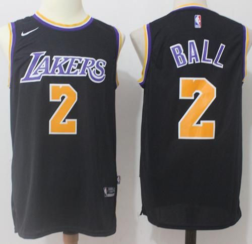 1357f964939 Nike Lakers  2 Lonzo Ball Black Stitched NBA Swingman Jersey. Find this Pin  and more on Los Angeles ...