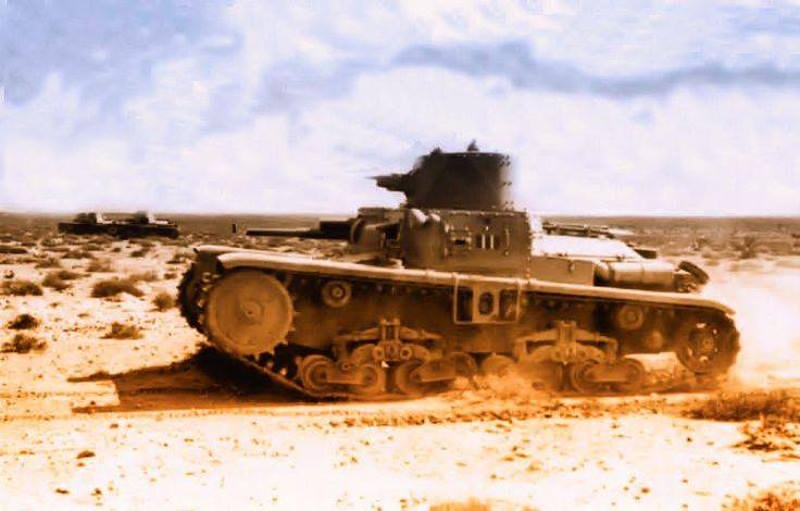 Africa Settentrionale 1940 - Carro M 11/39 in movimento verso Sidi el Barrani.