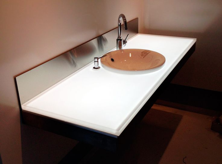 Backlit Corian Led Light Panel Counter Top Projects To