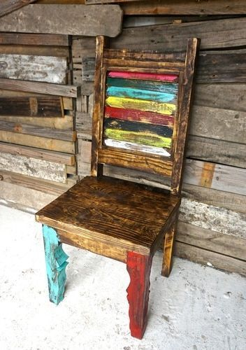 Zarape Dining Chair #PaintedChair #ChairsDIY #ChairRepurposed