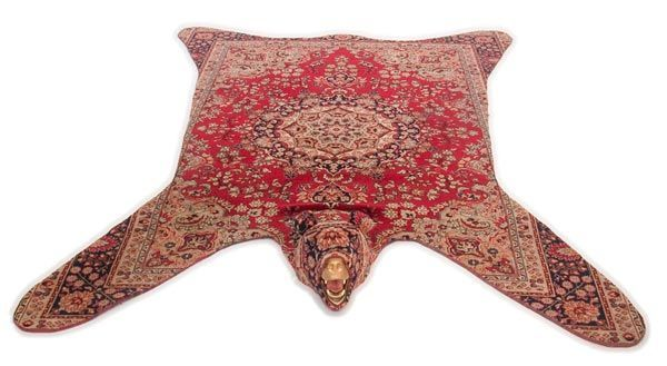 On my list to do with a small area rug we have...non-bear skin rug - upcycle