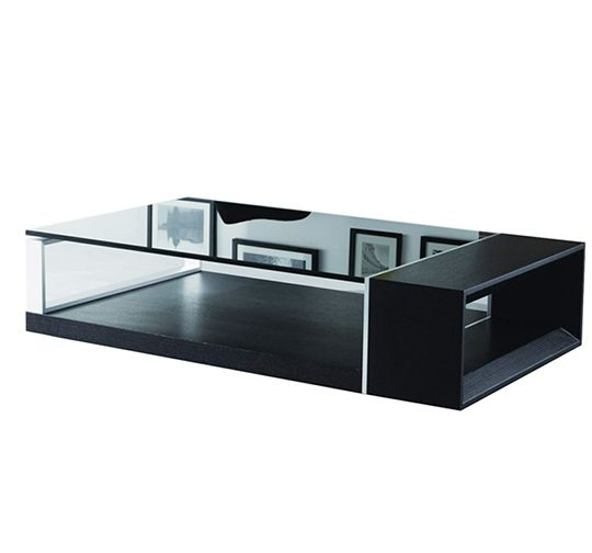 This sleek contemporary coffee table is available in Walnut, Wenge and White Lacquer