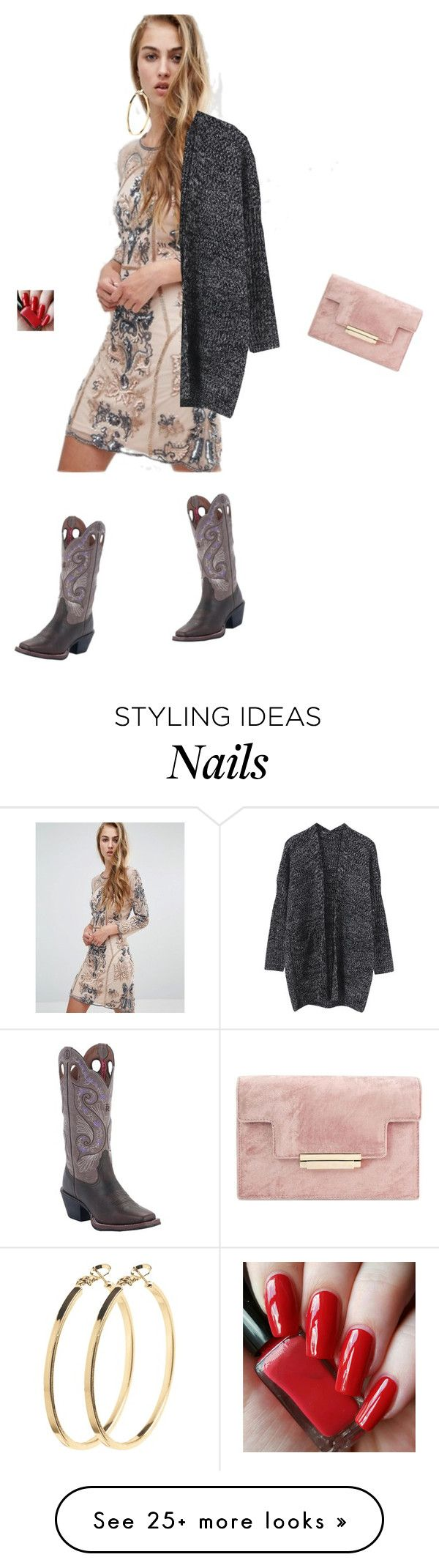 """""""Untitled #3174"""" by ayse-sedetmen on Polyvore featuring Miss Selfridge, Tony Lama and Pieces"""