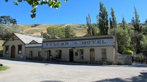 Vulcan Hotel, old gold mining town in Bathans, along the Central Otago Rail trail, NZ