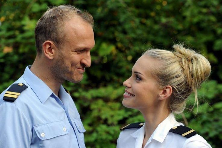 Marten Feddersen und Pia Cornelius von der Küstenwache